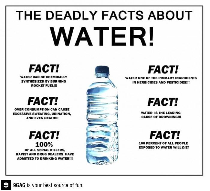 Water Is Dangerous Be Afraid Whats Fresh Funny Funny Facts
