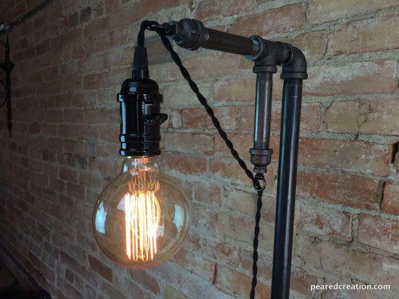 Minimalist Floor Lamp Industrial Lighting by newwineoldbottles