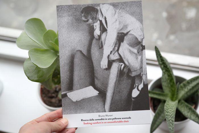 Seeking comfort in an uncomfortable chair / Ricerca della comodità in una poltrona scomoda by Bruno Munari