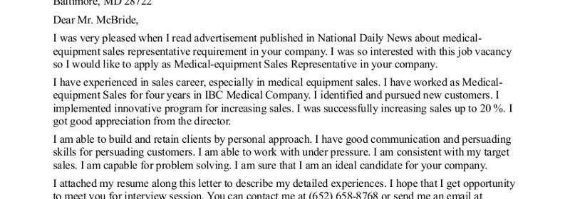 Example Of A Good Cover Letter For Resume  Letter Examples