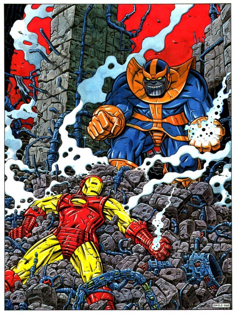 Thanos Vs Google Search Classic Comics Marvel Art Spiderman