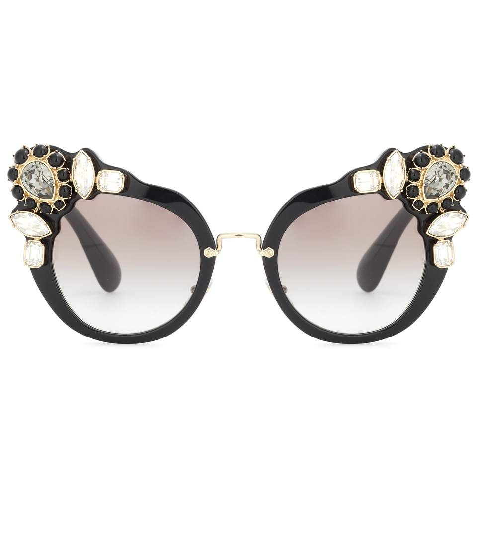 91dc60be45 MIU MIU Embellished cat-eye sunglasses.  miumiu  sunglasses