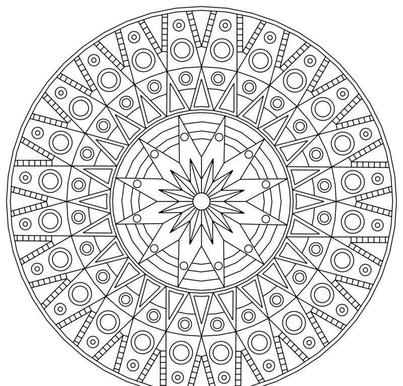 Die Mandalas Bestehen Traditionell Aus Geometrischen Figuren Mandala Zum Ausdrucken Mandala Vorlagen Kostenlose Ausmalbilder