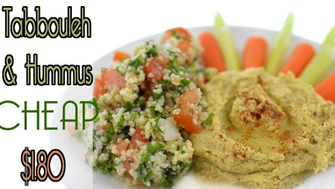 Easy Creamy Hummus & Tabbouleh Recipe - Vegan Rich Bitch Cooking Blog  Perfect finger food for a party. These make great wraps.