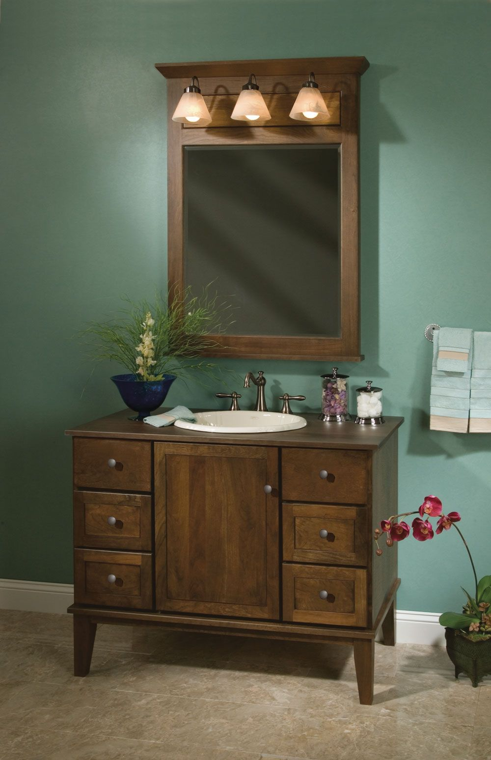 Badezimmer eitelkeit shaker stil springhill  inch cherry wood dark color  wood pro  pinterest