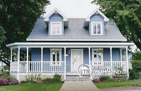 w5566 besoin des propri taires garder la maison existante ajouter une galerie en fa ade et sur. Black Bedroom Furniture Sets. Home Design Ideas