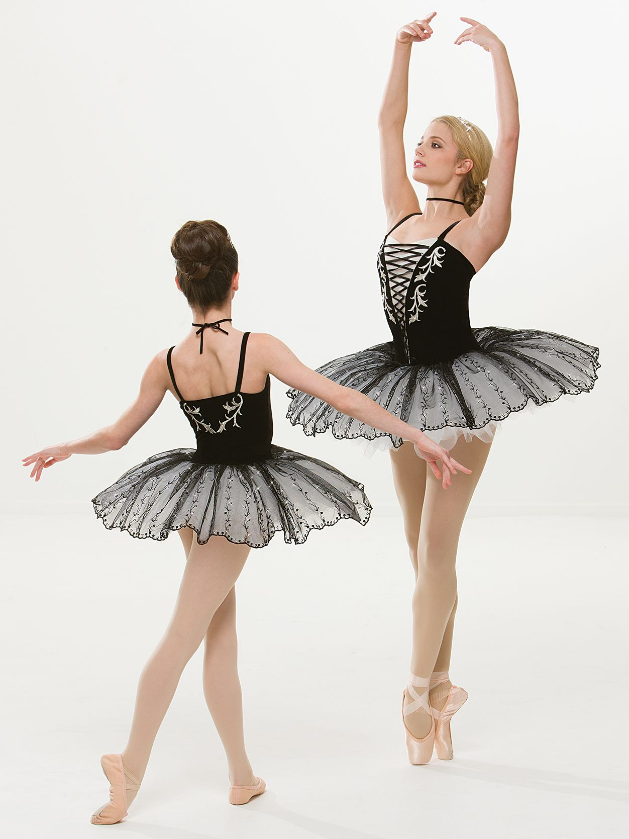 Nocturne Ballet Tutu White or Black Dance Costume CXS,CS,6X7,CM,L,CXL,AS-2XL 257