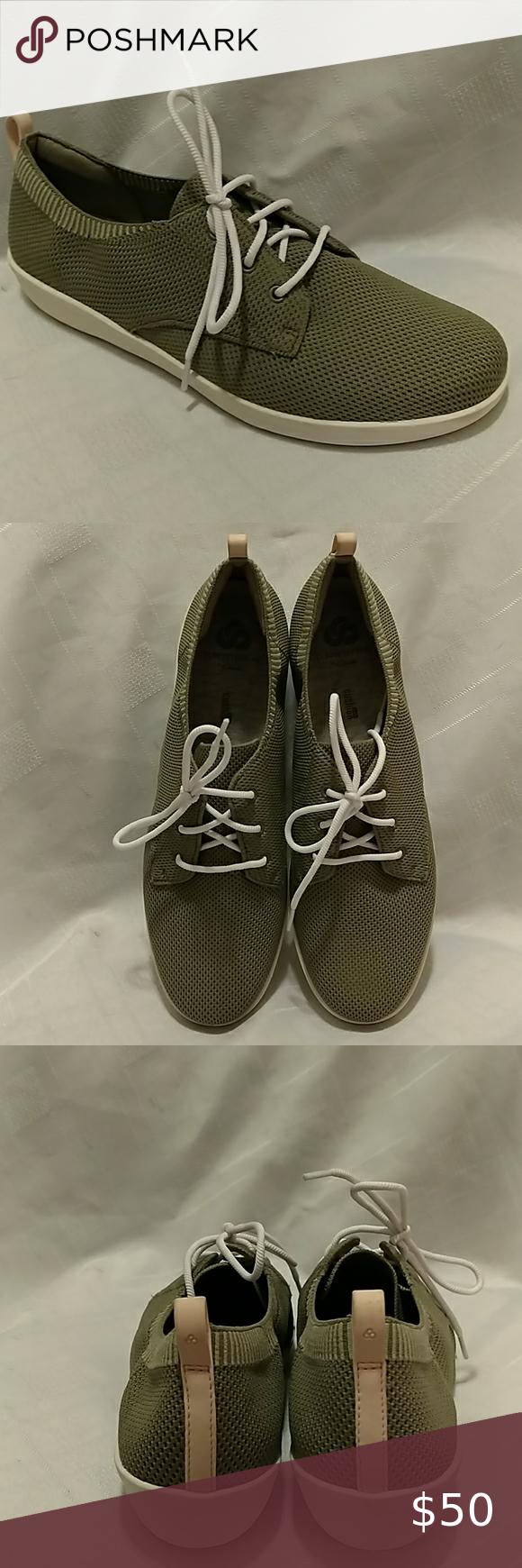 Clarks Ayla Reece Olive Knit sneaker 9