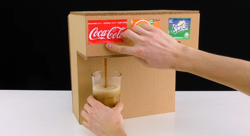 How To Make An Awesome Diy Soda Fountain Out Of Cardboard Soda Machines Vending Machine Diy Soda Fountain