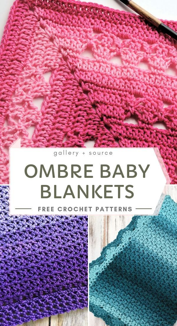 Ombre Baby Blankets