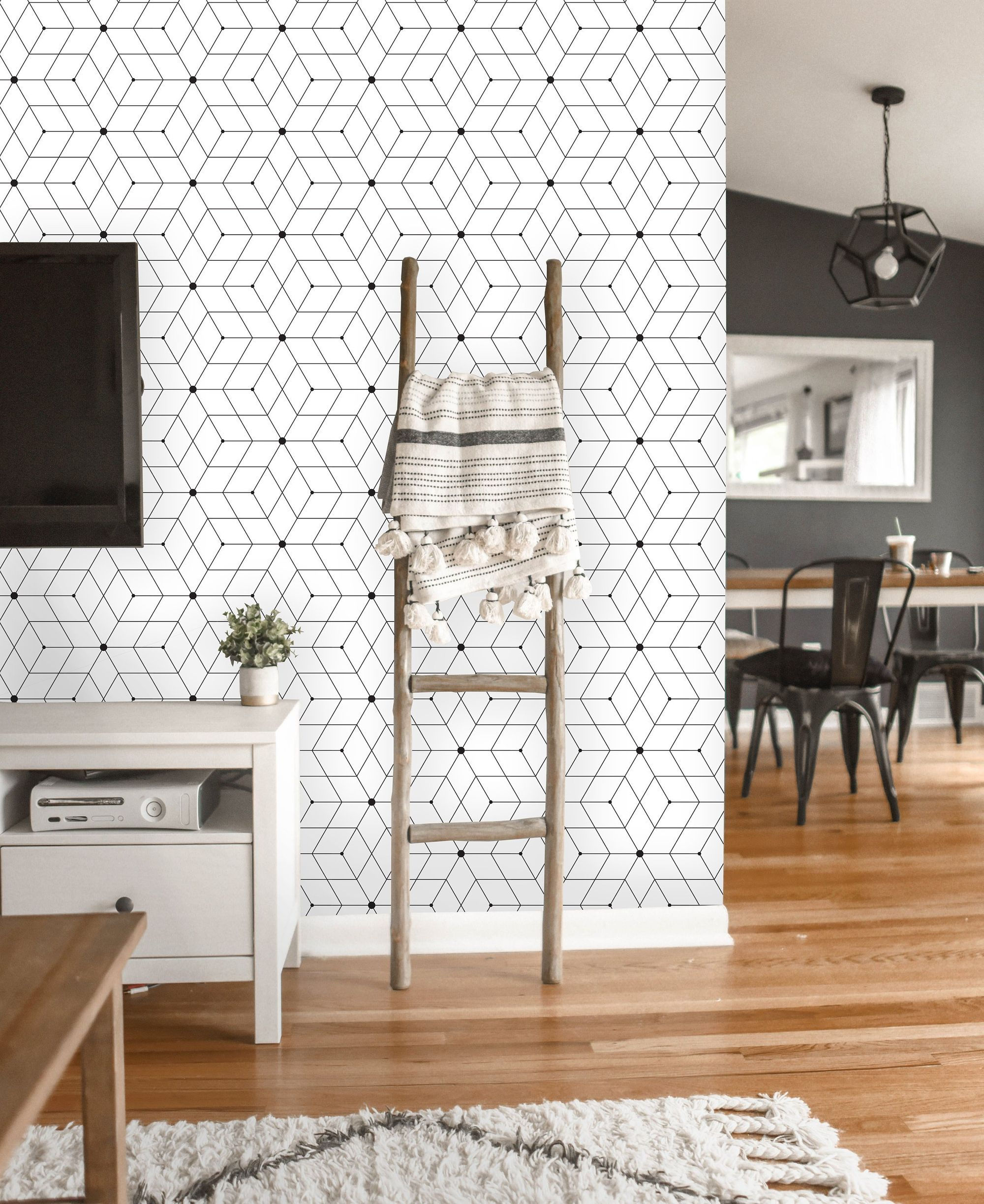 Removable Wallpaper Peel And Stick Geometric Wallpaper Etsy Geometric Removable Wallpaper Geometric Wallpaper Removable Wallpaper