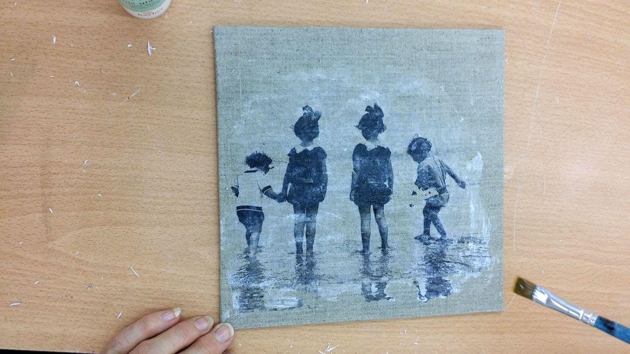 Transfert Photocopie Sur Bois transfert d'image au gel medium sur toile | toile