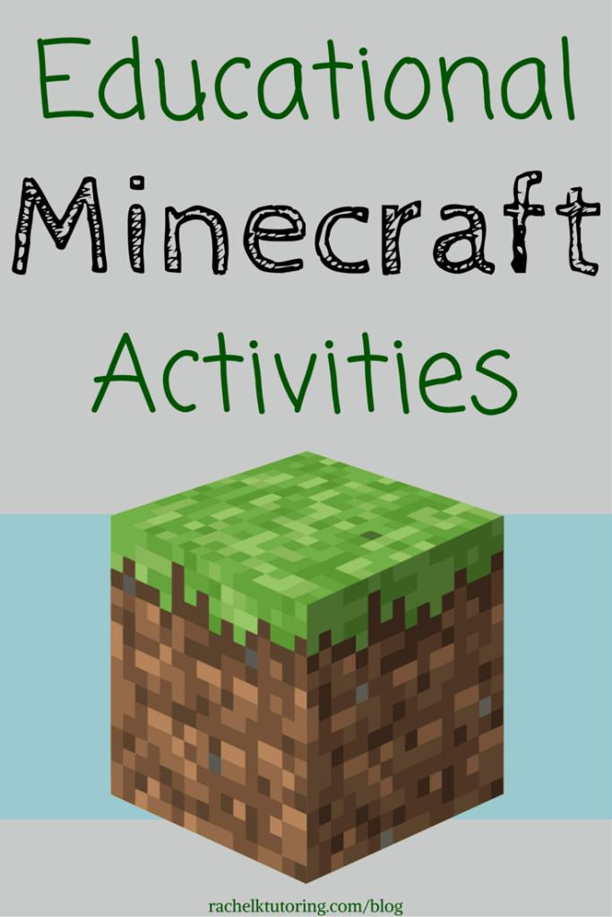 Educational Minecraft Activities Rachel K Tutoring Blog Minecraft Activities Minecraft School Minecraft Classroom