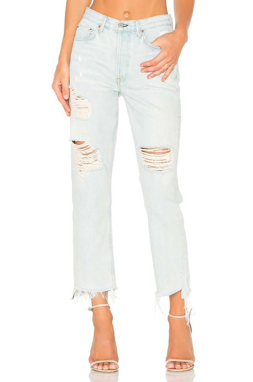9699e542b7 REVOLVE | Want Want Want Now | High waisted distressed jeans, White ...
