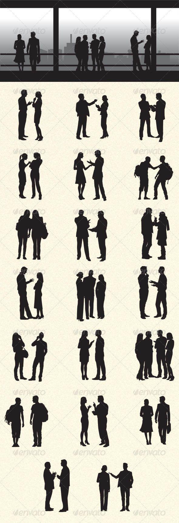 People Talking Drawing People Silhouette People People Illustration