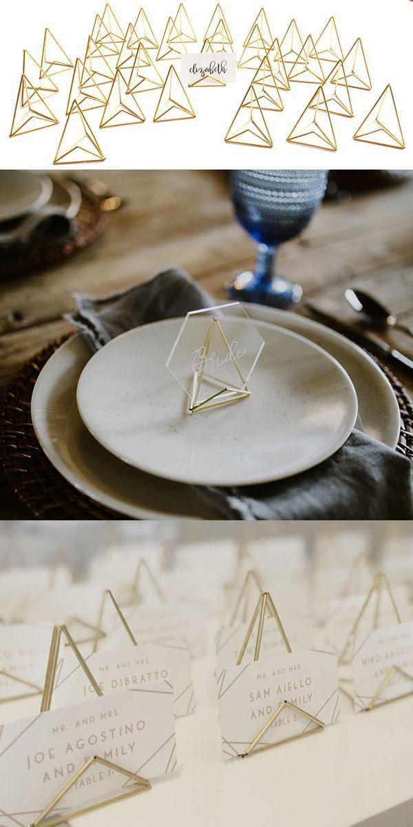aktuellste Bilder MOD Tischkartenhalter – 4 Farboptionen – Modlode – Hochzeits-Namenskartenhalter – geometrisches Dekor für besondere Anlässe, metallischer Tischkartenhalter  Vorschläge – jaysuz pin blog