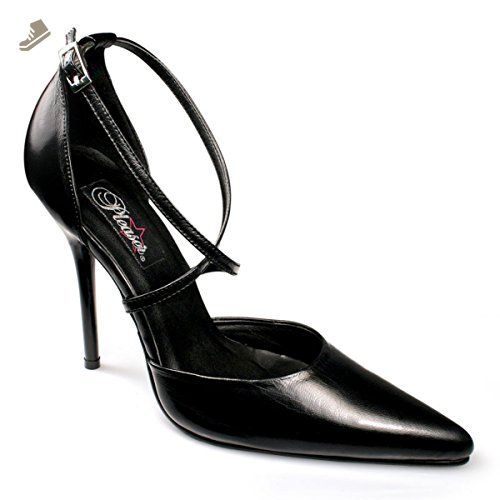668d08fb787 Womens Pointed Toe Pumps 4 1 2 Inch Heel Crisscross Strap D Orsay Black  Leather Size  7 - Summitfashions pumps for women ( Amazon Partner-Link)