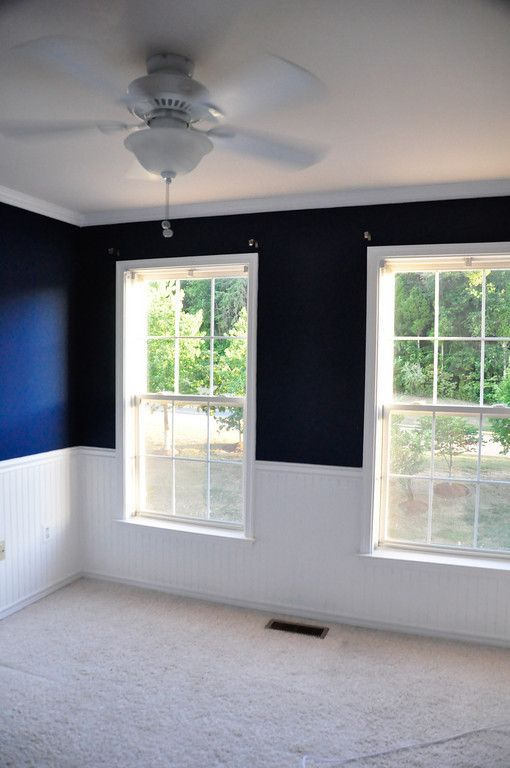 The Outcome Navy Walls Rope Crown Molding And White