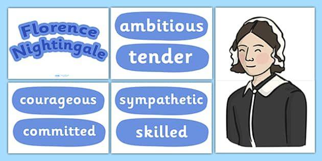 florence nightingale character traits display set florence  florence nightingale character traits display set