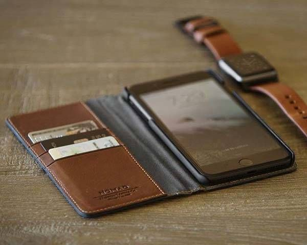 newest e6e6e af147 Nomad Leather Folio iPhone Wallet for 7/7 Plus | Apple Gadgets ...