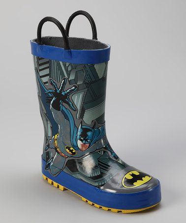 Take A Look At This Blue Amp Gray Batman Lunge Rain Boot By
