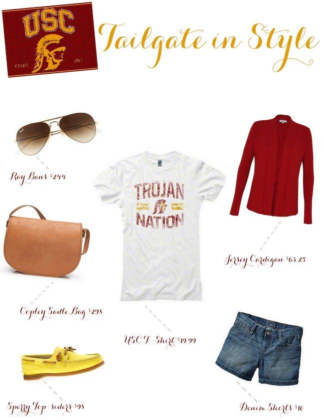 Linen, Lace, & Love #USC #football #tailgate #style #trojans