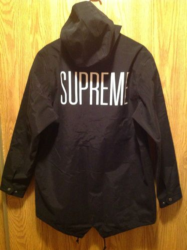 Supreme taped seam fishtail parka sz large cw black box logo cdg supreme taped seam fishtail parka sz large cw black box logo cdg ebay gumiabroncs Gallery