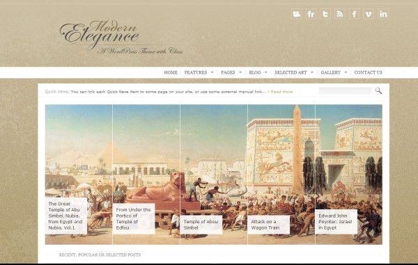 modern elegance vintage wordpress theme