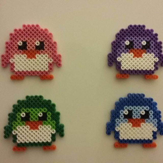 Penguins perler beads by lekaakel | Stella | Perler beads ...