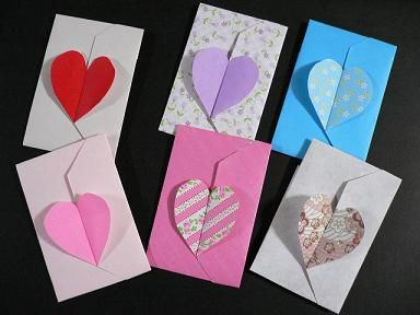 ハート 折り紙 折り紙 袋 簡単 : pinterest.com
