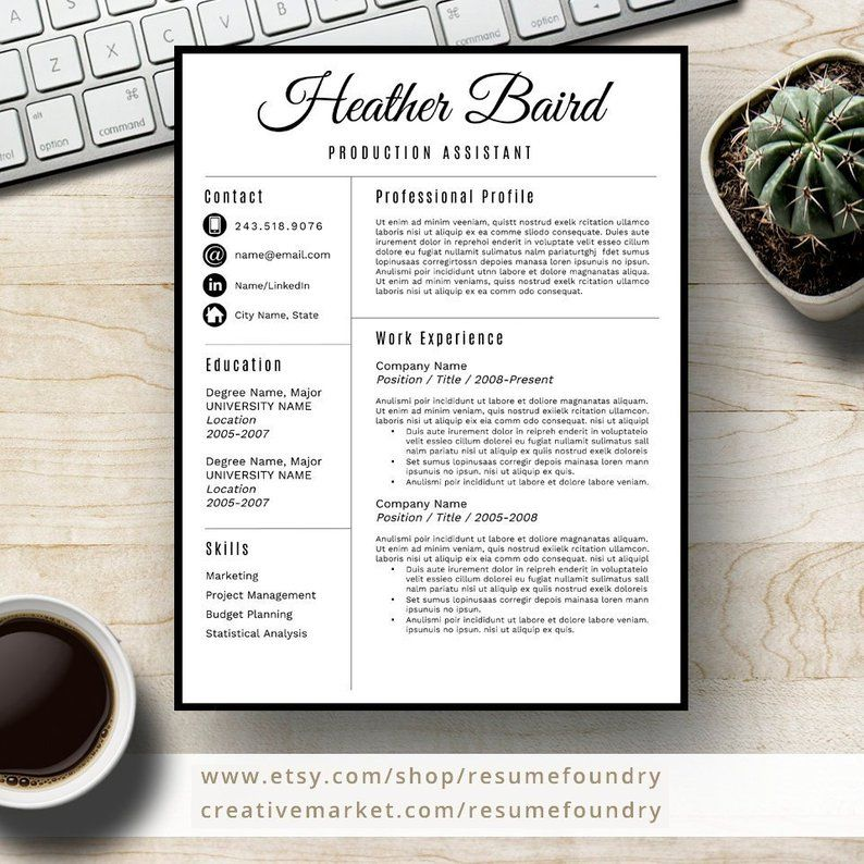 Bold and Modern Resume Template for Word, 13 Page Resume