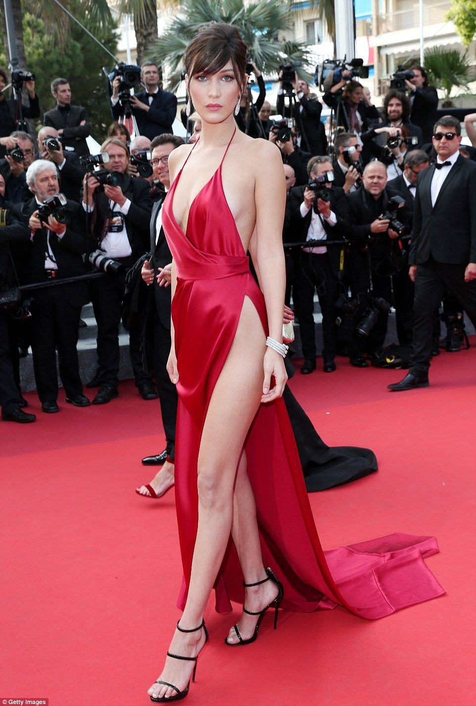 6ab24ae9cec8 Doe eyed  The red dress was arguably the most daring of the Cannes film  festival so far