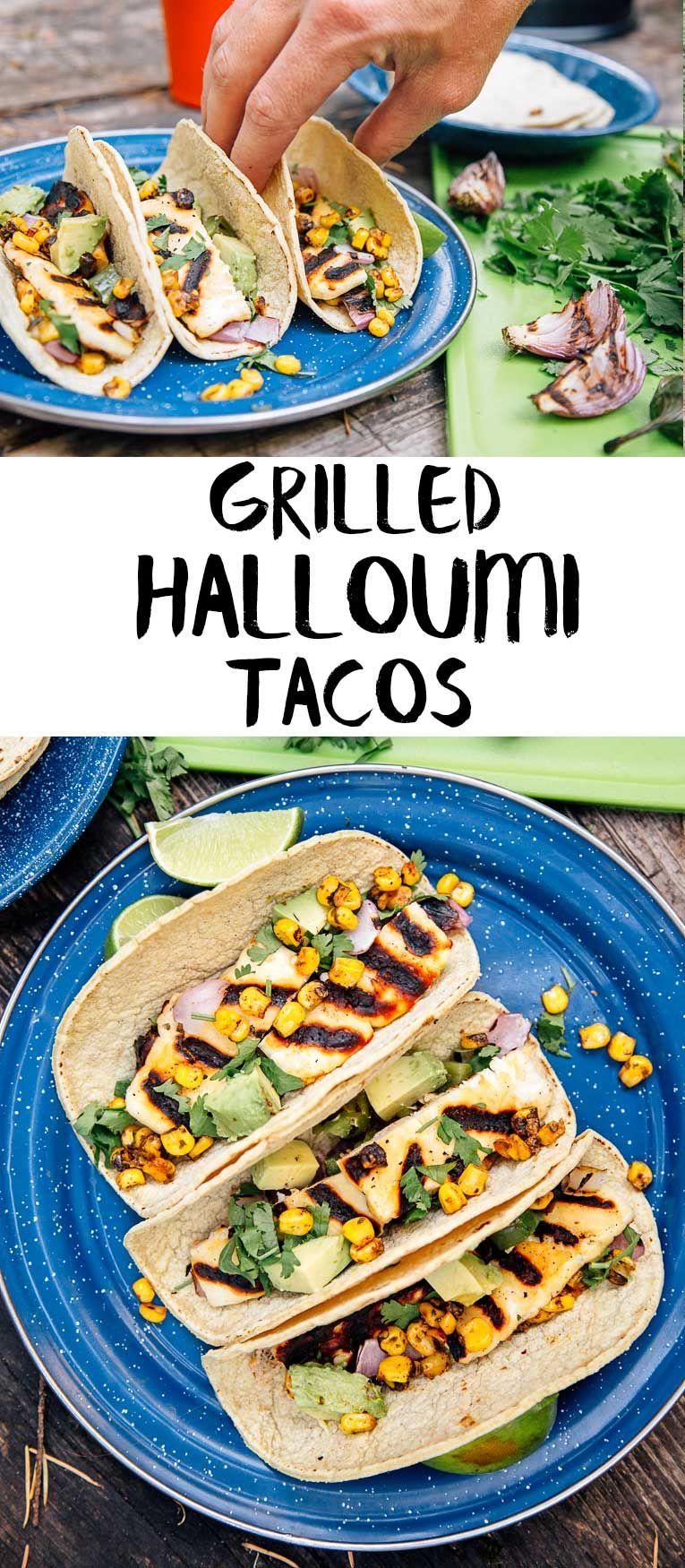 Grilled halloumi tacos recipe vegetarian camping grilled these grilled halloumi tacos are a great vegetarian camping meal easy to prepare and even forumfinder Gallery