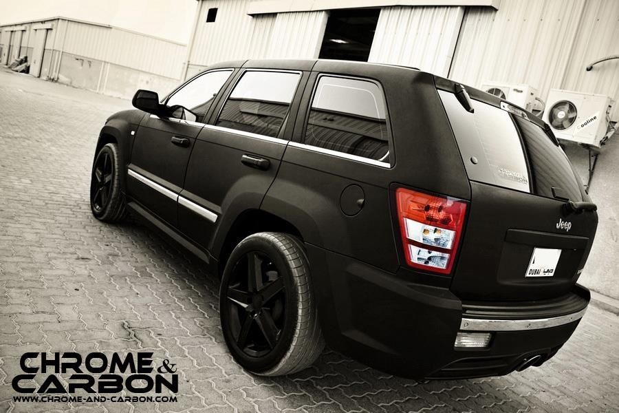 matte black jeep grand cherokee srt8 srt street racing. Black Bedroom Furniture Sets. Home Design Ideas