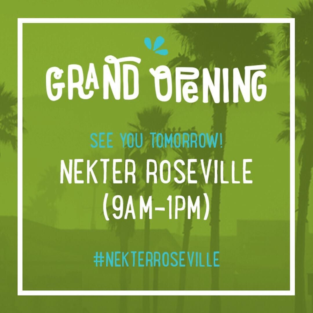 Norcal see you tomorrow for our Roseville Grand Opening! Come celebrate and enjoy: - $1 juices or smoothies (limit 2 per person)  - $30 for any 1-day cleanse (while supplies last)  - Fun goodies - Samples giveaways and more!