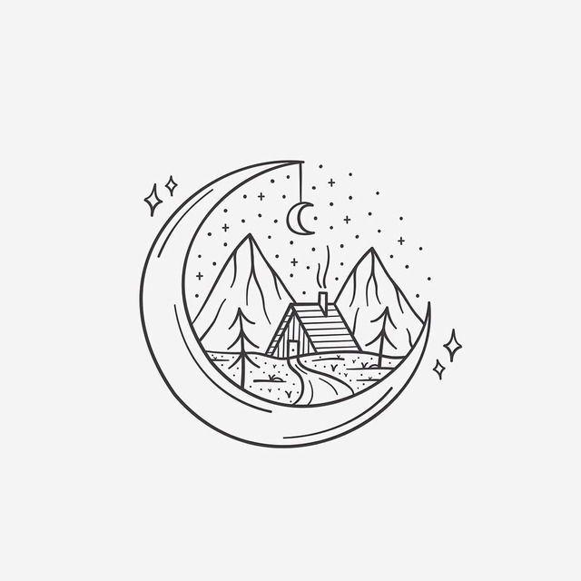 Bergzeichnung | Zeichnungen, Zeichnen und Berg zeichnung