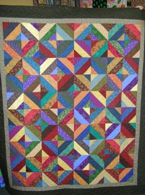 Scrappy Strip Quilt made with Strip Tube Ruler (uses 1 Bali Pop or ... : quilting with strips - Adamdwight.com