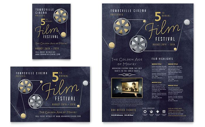 Film Festival Flyer and Ad Template Design by StockLayouts ...