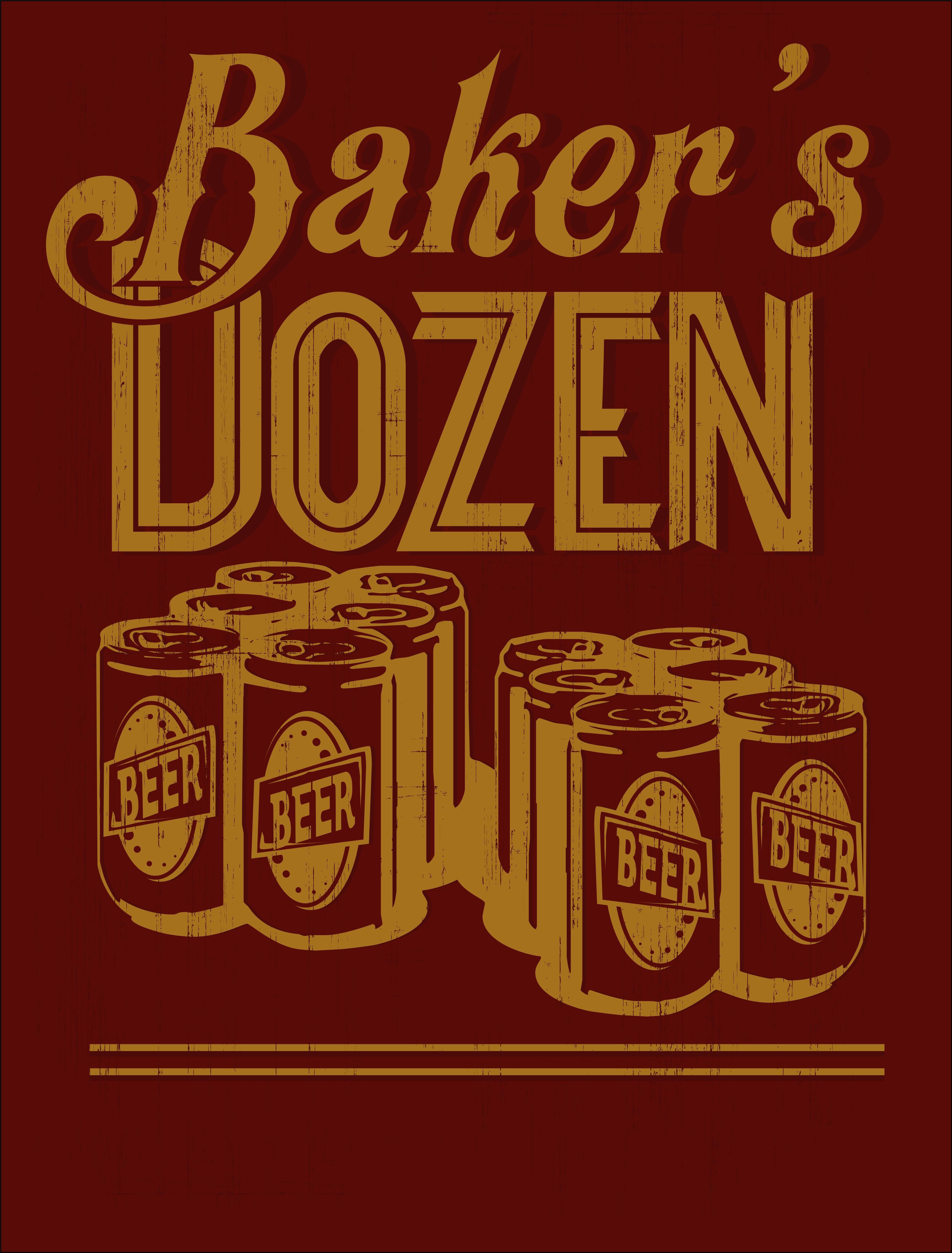 Bakers Dozen T- Shirt Foodie Fun