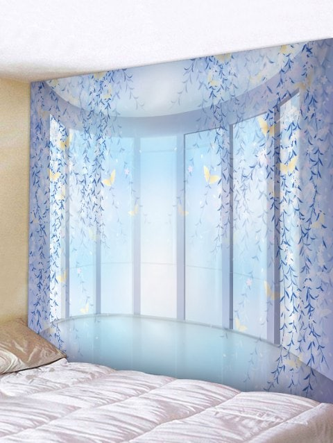 flower vines window print tapestry wall hanging art on walls coveralls website id=52967