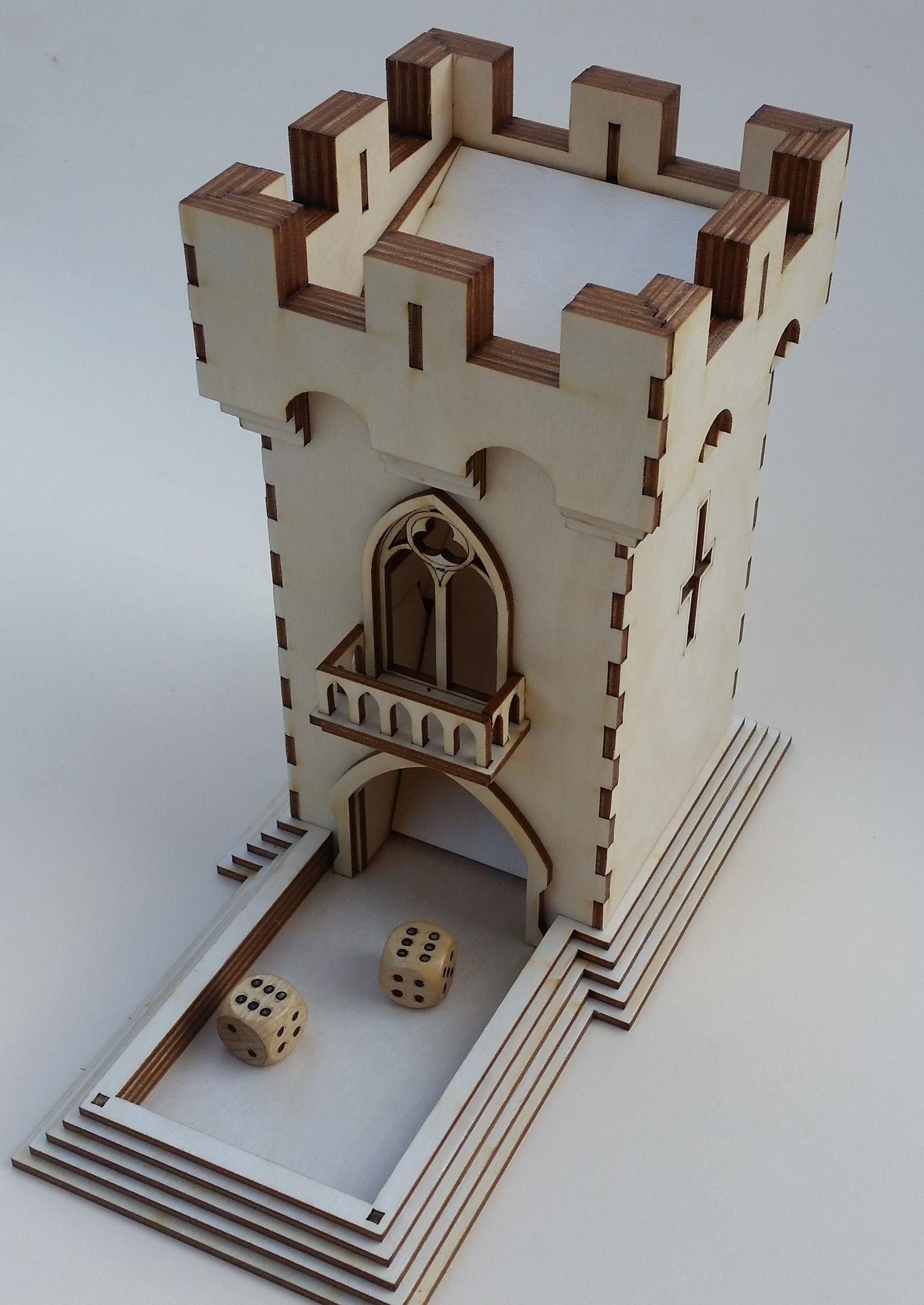 Dice tower old tower style castle Etsy Dice tower