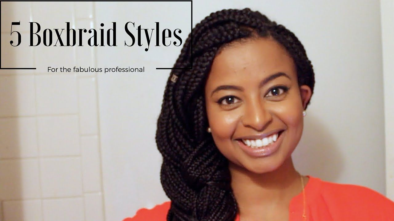 how i style box braids for work   5 easy professional looks