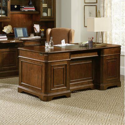Tremendous Hooker Furniture Brookhaven Solid Wood Executive Desk In Andrewgaddart Wooden Chair Designs For Living Room Andrewgaddartcom