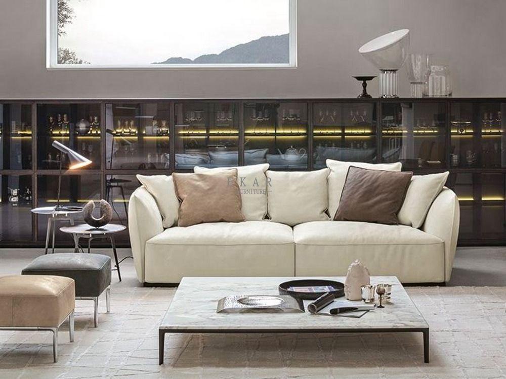 Tremendous Modern Italian Furniture 3 Seater Small Cream Sofa Ekar Camellatalisay Diy Chair Ideas Camellatalisaycom