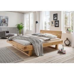 Photo of Beam letto matrimoniale in legno massello grassetto, 140×200 cm, abete oliato Cinall