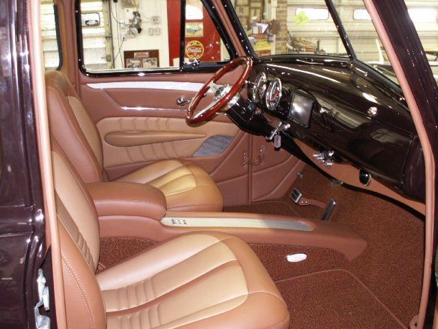 1953 chevy truck custom leather interior interiors by - Custom leather interior for trucks ...