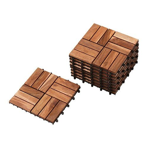 Wood Outdoor Decking Tiles from IKEA