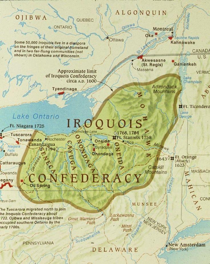 Iroquois Confederacy Map iroquois confederacy -...