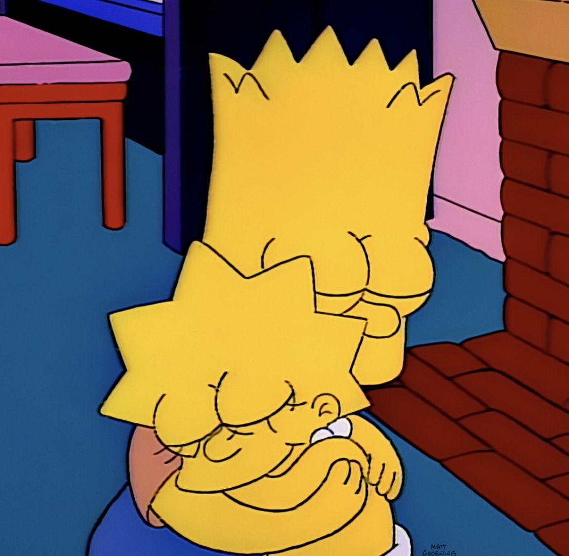 Amor Por Mi Hermano Simpsons Art Bart And Lisa Simpson Lisa Simpson