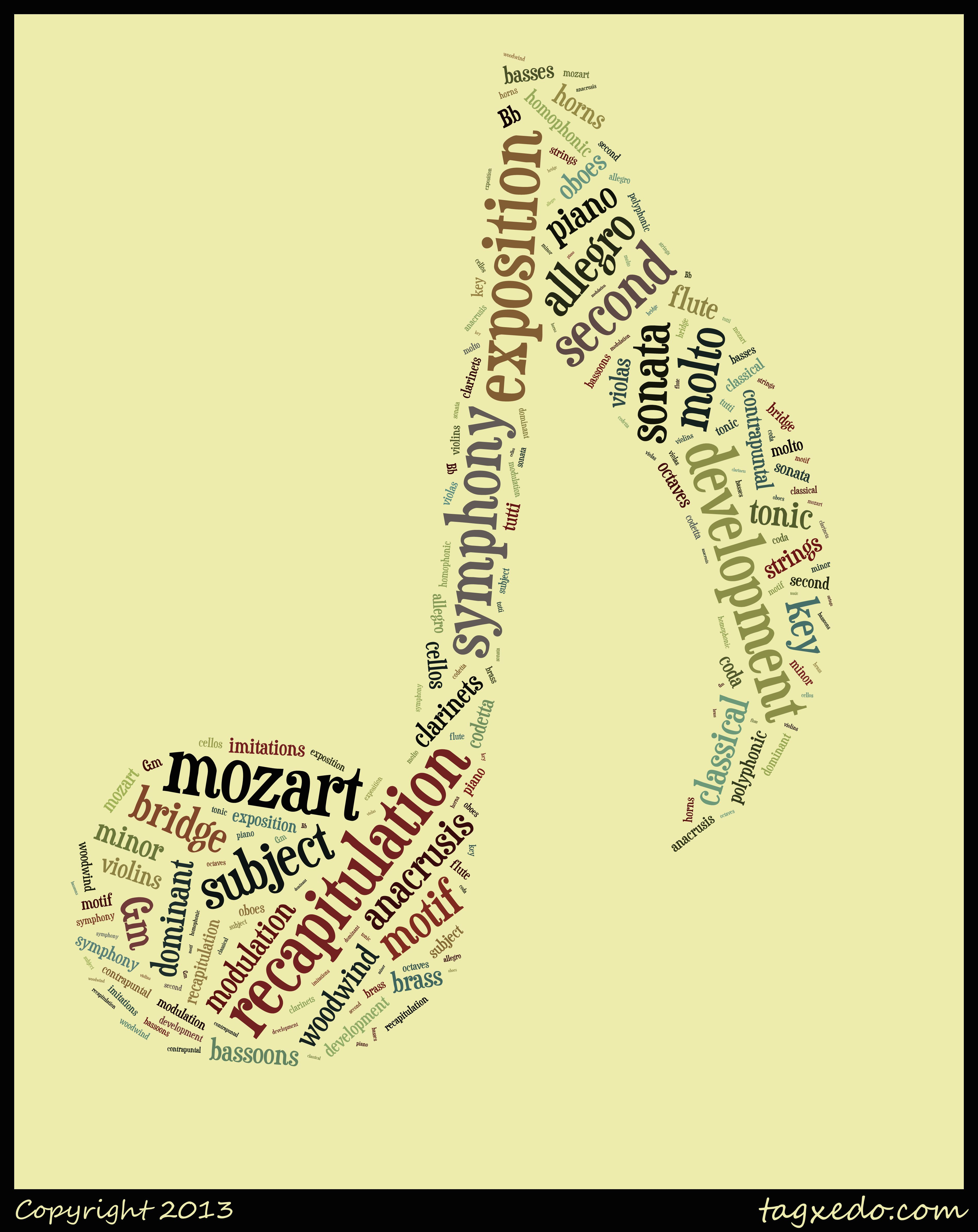 Yay look I made a word cloud with Tagxedo for Mozart Music
